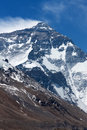 North face mount everest of from mt base camp tibet china Royalty Free Stock Image