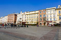 North frontage of the Market Square, Krakow Royalty Free Stock Photo