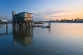 North Greenwich yacht club. Royalty Free Stock Photo