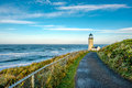 North Head Lighthouse at Pacific coast, built in 1898 Royalty Free Stock Photo