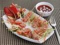 North Indian cuisine Paneer Lollipop snack Royalty Free Stock Photo