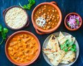 North Indian Platter Royalty Free Stock Photo