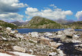 North kavkaz. Mountain lake. Royalty Free Stock Photography