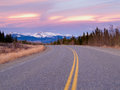North klondike hwy near whitehorse yukon canada early spring on highway just of territory Stock Photos