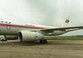 NORTH KOREA, PYONGYANG - July : Air Koryo plane at July 31, 2014 in Pyongyang, Royalty Free Stock Photo