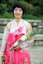 North korea s flower girl outdoor portrait in pyongyang here is pyongyang mansudae park Royalty Free Stock Photography