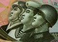 North Korea soldiers Stock Photos