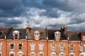 North london houses against cloudy sky Stock Images