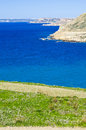 North malta shoreline the in the northern part of a view from the bahrija outskirts Royalty Free Stock Photo
