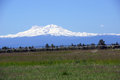North and middle sister volcano of the oregon cascades range near redmond oregon Royalty Free Stock Images