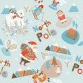 North Pole seamless pattern Stock Photography
