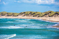 North sea beach, Jutland coast in Denmark Royalty Free Stock Photo