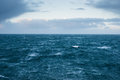 North sea meters high waves in the outside scotland Stock Photo