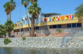 North shore beach and yacht club the at the salton sea in california Stock Image