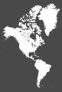 North and South America high detailed vector map