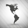 North and South America map on gray background, Royalty Free Stock Photo