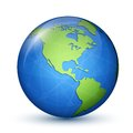 North and south americas america earth planet global communication concept vector illustration Royalty Free Stock Photos