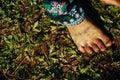 North Thailand: Feet dirty close-up Royalty Free Stock Photo