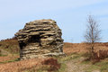 North yorkshire moors rock formation in national park england Stock Image