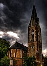 Northampton chappel evening view of in hdr Stock Photography
