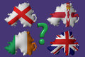 Norther ireland s flag the question about the of northern Stock Images