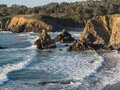 Northern california coastline the rocky pacific coast in Stock Image