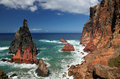 Northern coastline of ponta de sao lourenco at madeira portugal Stock Image