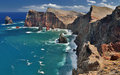 Northern coastline of Ponta de Sao Lourenco at Madeira, Portugal Royalty Free Stock Photo