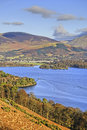 Northern Derwent Water and Keswick Stock Images