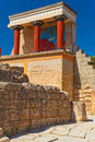 Northern entrance to Knossos palace, island of Crete Royalty Free Stock Photo