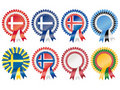 Northern European Rosettes Royalty Free Stock Images