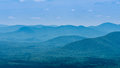 Northern georgia mountains a view across mountain ranges found in geogia near helen seen from yonah mountain Stock Photo