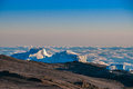 Northern icefields kilimanjaro the viewed from the uhuru peak the summit of Royalty Free Stock Images