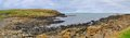 Northern ireland coastline panoramic view with and sea Stock Image