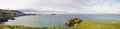 Northern ireland coastline panoramic view with and sea Royalty Free Stock Photography