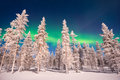 Northern lights, Aurora Borealis in Lapland Finland Royalty Free Stock Photo