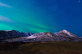 Northern lights the over the chugach mountains Stock Image
