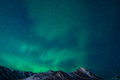 Northern lights the over the chugach mountains Royalty Free Stock Photos