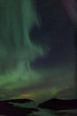 Northern lights over  craters in Iceland Royalty Free Stock Images