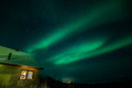 Northern lights in sweden with cabin a high resolution image of Royalty Free Stock Photos