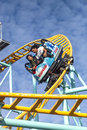 Northern`s California only spinning coaster, Santa Cruz, Califor Royalty Free Stock Photo