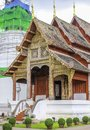 Northern thai style architectures wat phra sing chiangmai thailand Royalty Free Stock Photos