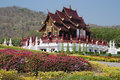 Northern thai style building in royal flora ratchaphruek ho kham luang chiang mai thailand Royalty Free Stock Photography