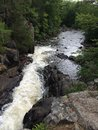 Northern Wisconsin Waterfall in Summer Royalty Free Stock Photo
