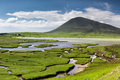 Northton saltings ceapabhal hill and tital inlets or at an taobh tuath or on the isle of harris scotland Stock Photo