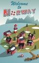 Norway fishing village Landscape Royalty Free Stock Photo