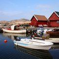 Norway fishing village Royalty Free Stock Photo