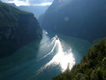 Norway geiranger fjord landscape mountains Royalty Free Stock Image