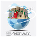 Norway Landmark Global Travel And Journey Infographic Royalty Free Stock Photo