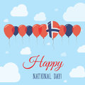 Norway National Day Flat Patriotic Poster.